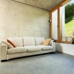concrete floor in living room