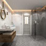 Geometric bathroom trend
