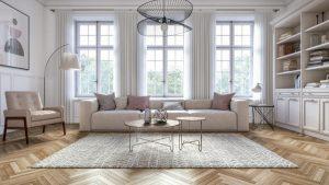herringbone floor trend