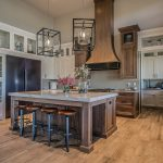 Beautiful country-style flooring in a celebrity kitchen