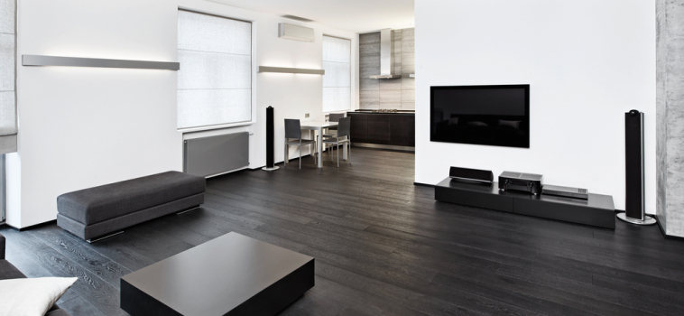 Trend: Black Hardwood Floors