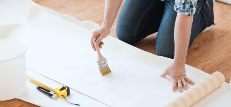 Trend: Wallpaper on the Floor